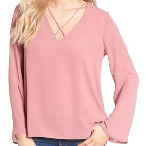 Lush Criss Cross Blouse